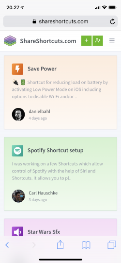 Screenshot for Apple Siri Shortcuts Frame 1