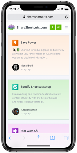 Screenshot for Apple Siri Shortcuts Frame 2