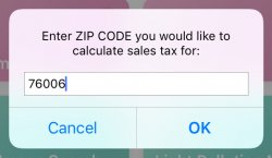 Screenshot for Apple Siri Shortcuts Sales Tax Calculator 1