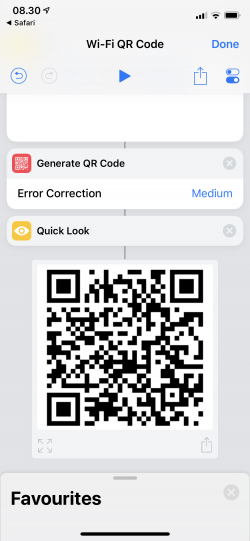Screenshot for Apple Siri Shortcuts Hotspot QR Code 2