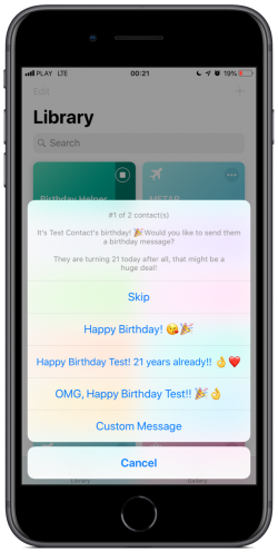 Screenshot for Apple Siri Shortcuts Birthday Helper 1