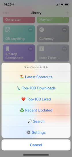 Screenshot for Apple Siri Shortcuts ShareShort Hub 1