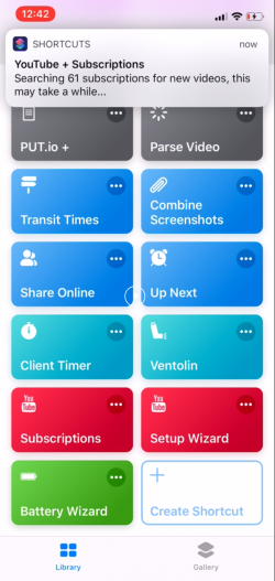 Screenshot for Apple Siri Shortcuts Subscriptions 3