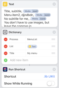 Screenshot for Apple Siri Shortcuts .lib UILibrary 4