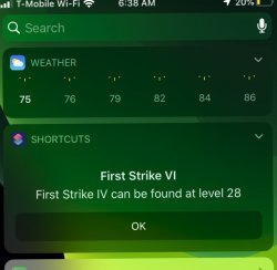 Screenshot for Apple Siri Shortcuts Lowest Levels For Top Level Enchants 3