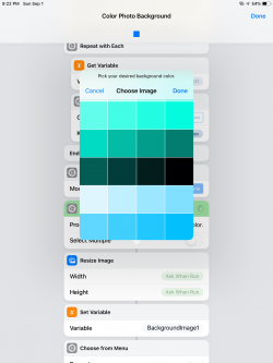 Screenshot for Apple Siri Shortcuts Color Photo Background 2
