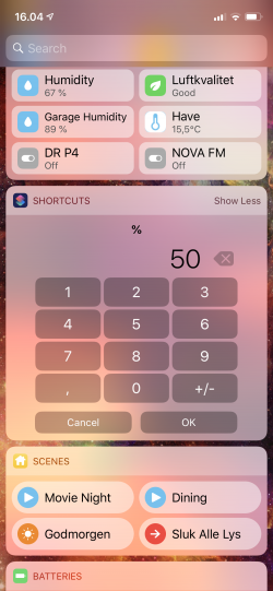 Screenshot for Apple Siri Shortcuts Percentage Calc 2